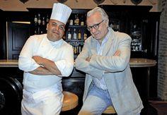 Intervista ad Alain Ducasse - MarieClaire. Alain Ducasse con Omar Agostini a L'Andana