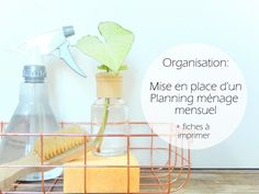 organisation mise en place d'un planning menage mensuel Flylady, Cleaning Hacks, Cleaning Supplies, Fee Du Logis, Burn Out, Blog Deco, Spray Bottle, Organization, How To Plan
