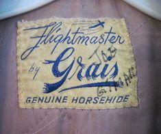 Vintage 1940s Grais Flightmaster Horsehide Leather Jacket Label by wearitsatvintage, via Flickr