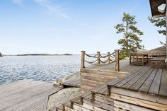 Brygga Glass House Design, Chalet Interior, Lake Dock, Railing Design, Swedish House, Archipelago, My Dream Home, Beach House, Architecture Design