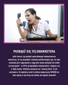 Pozbądź się telemarketera raz na zawsze - Zobacz jak!!! Good Advice, Home Remedies, Need To Know, Helpful Hints, Life Hacks, Beauty Hacks, Clever, Spa, Funny Memes