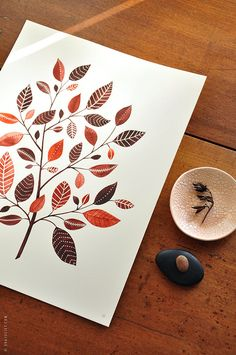 The Copperleaf Tree - 8x10 Botanical Watercolor Collection. $28.00, via Etsy.