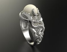 Kraken Ring modeled in ZBrush, rendered in KeyShot by Nacho Riesco.