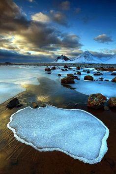 Vesturhorn, Iceland. Avg temp in May - July avgs 40-55