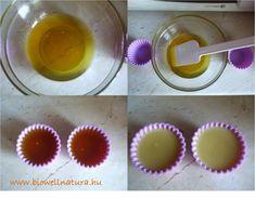 Csokis - narancsos testápoló tömb Soap, Organic, Desserts, Diy, Tailgate Desserts, Deserts, Bricolage, Postres, Do It Yourself