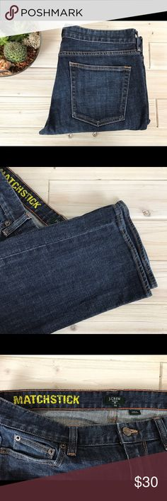 31S 12S J. Crew Matchstick Dark Wash Skinny Jeans 31S 12S Short J. Crew Factory Matchstick Dark Wash Skinny Jeans in good condition No stains, holes/rips or major areas of fading. Some piling of pocket fabric inside of jeans. 98% cotton 2% spandex. J. Crew Jeans Skinny