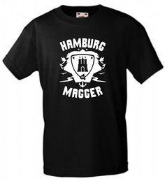 INDIVIDUELLES HAMBURG MAGGER FREIZEIT T-SHIRT FÜR EXPERTEN, STADTROCKER...!
