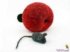 Apfelmäuschen groß (rot) von TaFiO Land auf DaWanda.com