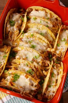 Cheesy Chicken Tacos Delish