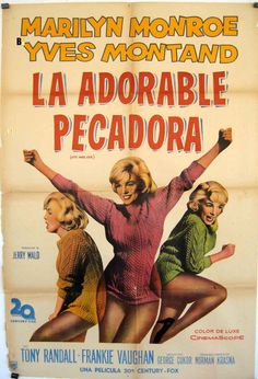 """Let's Make Love"" - Marilyn Monroe, Yves Montand and Frankie Vaughan. Argentine 1 Sheet Movie Poster, 1960."