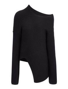 Joseph Wool Stitch Asymmetric Sweater, $545; joseph-fashion.com