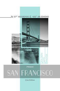 Photograph - Poster Art San Francisco Presidio - Turquoise by Melanie Viola , Layout Design, Web Design, Banner Design, Creative Design, Event Poster Design, Graphic Design Posters, Graphic Design Typography, Graphic Design Inspiration, Photoshop Design