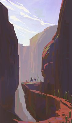 Environment sketches by Slawek Fedorczuk Fantasy Landscape, Landscape Art, Landscape Paintings, Landscapes, Environment Sketch, Environment Painting, Landscape Illustration, Digital Illustration, Arte Robot