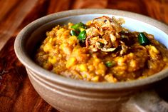 Tarka Dhal - a delicious split pea dhal with a traditional tarka added in at the end to enhance the flavours of an already tasty dish.