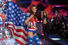 Taylor Hill walks the runway at the 20th annual Victoria's Secret fashion show.