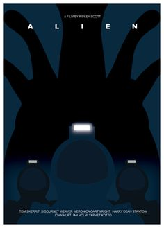 Alien minimalist poster by Tony Johnson