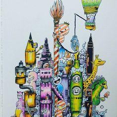 Miasteczko bazgrolkow;) #doodleinvasion #doodle #inwazjabazgrołów #inwazjabazgrolow #bazgroly #kolorowankaantystresowa #kolorowankadladorosłych #kolorowanki #kolorujemy #kredki #sztukakolorowania #zifflin #zifflinscoloringbook #zifflindoodle #doodleinvasioncoloringbook #kolory #colorful #coloringbookforadults #kolorowo #kolorowanka #coloringbook #coloring #kolorowanieuzależnia #colouringtherapy #adultcoloringbook #kochamkolorować #relax
