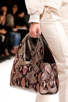 Salvatore Ferragamo Python Hobo Large Bag - Runway Spring 2014