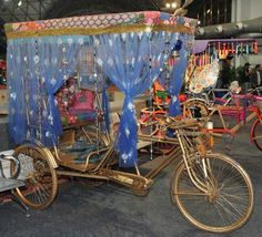 can we put a rickshaw in the lobby?