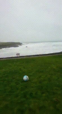 Football with storm