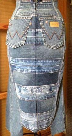 34 Super Ideas For Skirt Denim Diy Recycle Jeans Estilo Denim, Diy Clothes Refashion, Denim Outfits, Denim Ideas, Old Jeans, Looks Style, Denim Fashion, Denim Skirt, Diy Recycle
