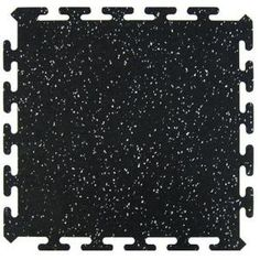Gym-tough flooring: Multy Home Black 16.5 in. x 16.5 in. Activity Floor (6-Pack)-MT1002497 at The Home Depot