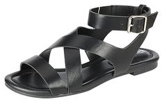 Breckelles Women's Ruby-54 Flat Ankle Strap Buckle Open Toe Comfort Sandal -- You can find out more details at the link of the image.