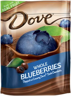 DOVE® Real Blueberries Dipped in Silky Smooth Dove® Dark Chocolate Stand Up Pouch