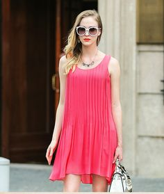 600beaef8774c Aliexpress.com   Buy VOA red silk dress 2016 Summer sleeveless loose thin  dresses female new A5901 A from Reliable dresses china suppliers on VOA  Flagship ...