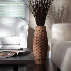 #LaminateHardwoodFlooring Tall Glass Vases, Tall Floor Vases, Floor Vase Decor, Vases Decor, Tall Vase Decor, Home Renovation, Wood Vase, Elegant Home Decor, Flower Vases