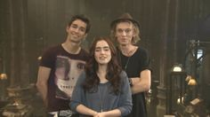 Robbie Sheehan, Lily Collins, and Jamie Campbell Bower