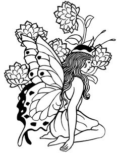 fairies colouring pages - Google Search