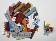 50+ LEGO Pieces With Custom Minifigure Gladiator Washed and Sanitized NEW (WF15)