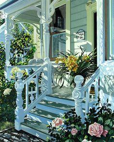 I love this porch and the way it caputres the sun. susan rios