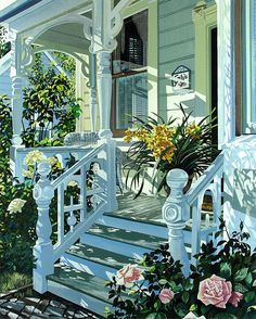 I love this porch and the way it caputres the sun. susan rios
