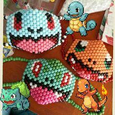 Starter Pack Kandi Mask https://www.etsy.com/listing/200898797/starter-pokemon-set