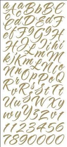 Brush Stroke Script Black Sticko Alphabet Stickers for sale online Scrapbook Letters, Scrapbook Stickers, Script Alphabet, Alphabet Stickers, Brush Script, Calligraphy Letters, Caligraphy, Letter Logo, Brush Strokes