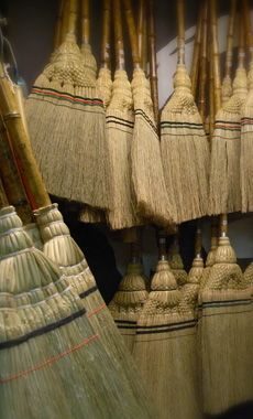 A Houki is a broom traditionally used in Japan for sweeping trash and dust.  There are two kinds of houki:  zashiki-bouki (room broom) and niwa-bouki (garden broom), depending on where they are to be used.