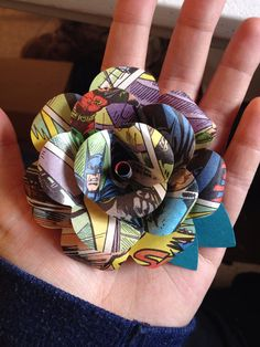 Comic book boutonniere by CraftingbyKnight on Etsy, $15.00