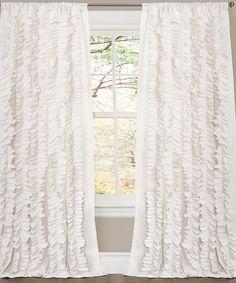 Look what I found on #zulily! White Belle Curtain Panel #zulilyfinds