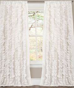 Take a look at this White Belle Curtain Panel by Lush Décor on #zulily today!