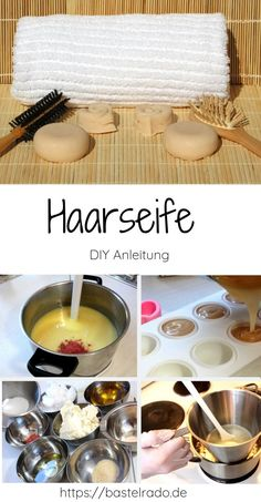 Natural hair soap for great hair and without any garbage or plastic - Make hair soap yourself diy Informations About Natürliche Haarseife für tolles Haar und das ganz o - Diy Shampoo, Shampoo Bar, Diy Beauté, Ikea Pax, Soap Packaging, Scene Hair, Home Made Soap, Hacks Diy, How To Make Hair