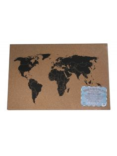 MAGNETIC CORK WORLD ATLAS MESSAGE BOARD #karmakiss #office #desk #accessories #home