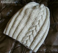 works: adult Nina Beanie - Knit and Crochet - Awesome knitted and crocheted items and patterns. Baby Hats Knitting, Knitting Stitches, Knitted Hats, Knitting Patterns, Crochet Patterns, Vetement Fashion, Knitting Accessories, Kids Hats, Knit Beanie