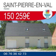 #ResidencesPicardes vous propose ce pavillon de 3 chambres à SAINT-PIERRE-EN-VAL (76260) sur un terrain de 700m² pour 150 259€*