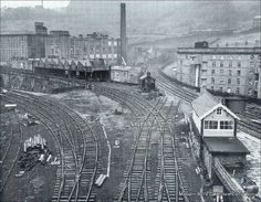 People share Halifax-old-pics of an historic town in Wesy Yorkshire Train Tracks, Train Rides, Halifax West Yorkshire, Old Train Station, Disused Stations, Steam Railway, Road Construction, British Rail, Old Trains