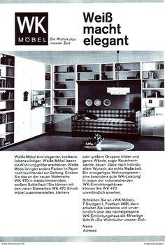 Werbung - Original-Werbung/Anzeige 1963 - WK MÖBEL - ca. 160 x 230 mm
