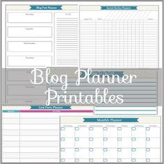 My May Sunshine: Blog Planner Printables