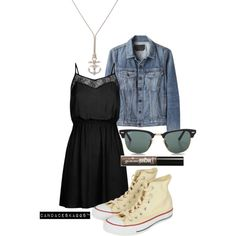 Chucks | dress and converse, summer style