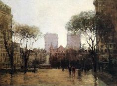 The Plaza at 59th Street - Paul Cornoyer - The Athenaeum